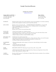 sample resume functional sample functional resumes for career