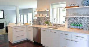 white kitchen cabinets with white backsplash white kitchen cabinets blue mosaic backsplash design ideas