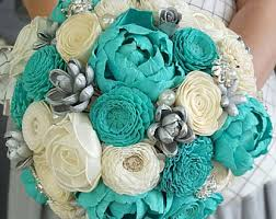 Tiffany Blue Flowers Wooden Flowers Etsy