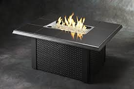 napa valley crystal fire pit table amazon com outdoor great room nv 1224 blk w k napa valley fire pit
