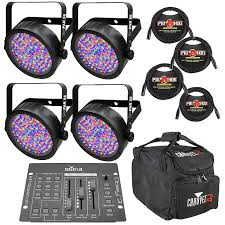 chauvet slimpar 56 led light chauvet slimpar 56 led lights with obey3 controller vip gear reverb