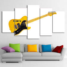 musical home decor aliexpress com buy 5 pieces black and white yellow guitar music