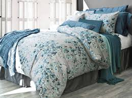 Indie Duvet Covers Amazon Com Alamode Home Hycroft Blue Grey Floral Queen Full Duvet