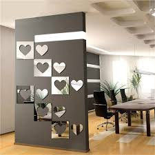 Large Wall Stickers For Living Room by 3d Mirror Wall Sticker Heartshaped Decal Mural Wall Art Diy Living