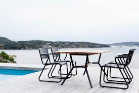 Teak Stainless Steel Outdoor Furniture by Contemporary Dining Table Teak Hpl Stainless Steel Reef By