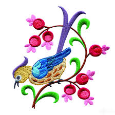 birds paradise jf308 embroidery design