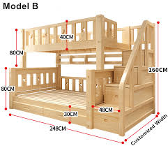 Bunk Bed Pictures Louis Fashion Children Bunk Bed Real Pine Wood With Ladder Stair