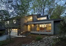 split level garage front window ideas exterior contemporary with split level split