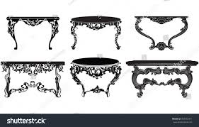 vintage baroque table set collection stock vector