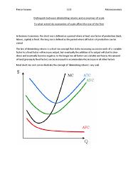 distinguish between diminishing returns and economies of scale