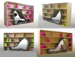 Bookshelf Chair Cave Bookcase Chair Late Mag