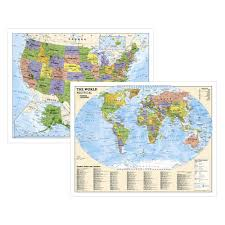The World Political Map by The World For Kids Wall Map Laminated National Geographic Store