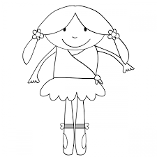 ballerina kids coloring page free stock photo public domain pictures