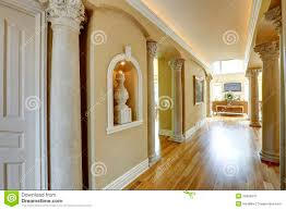 luxury home interior with column wall stock photo image 39531073