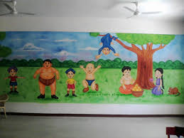 Pictures On Walls by Play Wall Painting 3d Cartoon Painting Painting