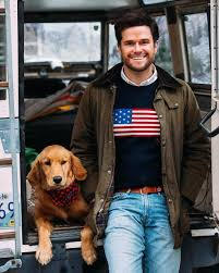 Flag Sweater Kiel James Patrick Of Kjp In The Iconic Flag Sweater Polo Style