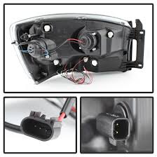 2011 dodge ram headlight replacement 2008 dodge ram 1500 2500 3500 eye halo led projector