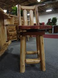 rustic red cedar log bar stool from dutchcrafters amish furniture