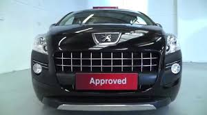 peugeot approved cars peugeot 3008 1 6 allure in crystal black pearl video walkaround