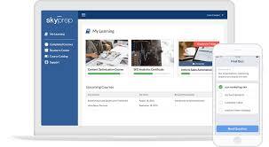online training software learning management system skyprep