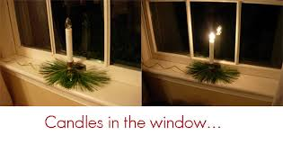 holiday candleglow in the windows in my own style