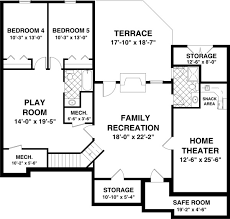 basement plans the blue ridge 8435 3 bedrooms and 2 5 baths the house designers