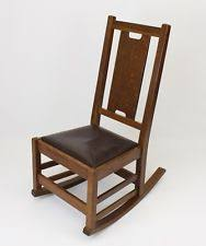 Antique Nursing Sewing Rocker Small Star Pattern Seat Gustav Stickley Antiques Ebay