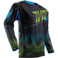 black motocross jersey thor 2017 fuse lit black blue jersey mxstore picks riding gear