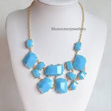 light blue statement necklace reddress pale blue bib necklace 39 00 my style pinterest