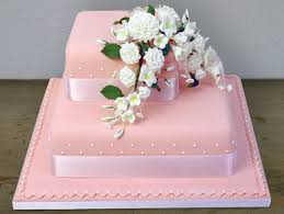 engagement cakes 2 tier pink cake with carnations 6lb sri lanka online shopping