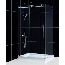 48 Inch Glass Shower Door Shen 6134480 07 Enigma X 34 X 48 Inch Frameless Sliding Shower