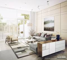 image of simple contemporary living room designs light filled