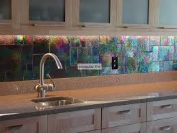 Glass Tile For Backsplash In Kitchen Iridescent Glass Tile Backsplash Zyouhoukan Net