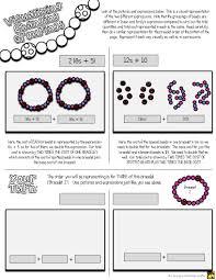 distributive property investigation bracelets distributive