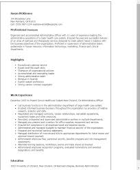 Resume Examples Summary by Professional Administrative Officer Templates To Showcase Your