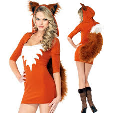 women costumes new orange fox animal women