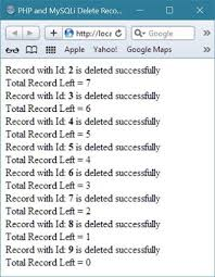 Mysql Delete From Table Php And Mysqli Delete Record From Table