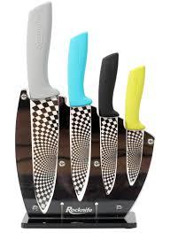 coloured kitchen knives set multi coloured ceramic knife set rocknife ceramic knives