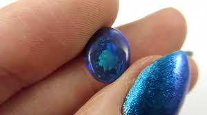 dark blue opal deep dark green blue fire opal qom 1594
