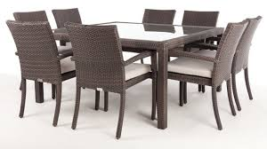 nico square patio dining table for 8 with glass top quality patio