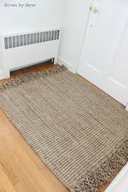 Jute Bathroom Rug Diy Resized Jute Rug From Standard To Custom Driven By Decor