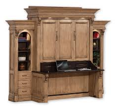 amish serenity wall bed and desk with side storage