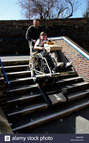 Used Stair Lifts For Sale by Portable Wheelchair Stair Lift Being Used To Assist A Wheelchair