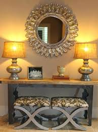 entrance table and mirror mirror and table for foyer interesting entrance console table