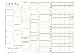 blank family tree family chart 5 generations blank family tree