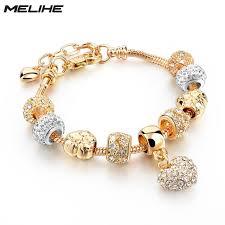 crystal heart charm bracelet images Melihe crystal heart charm bracelet for women gold bracelets jpg