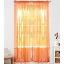 Sheer Curtains Orange Sheer Voile Curtain Panels Various Colors 4 Pack Daily