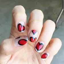 valentine u0027s day nail art nail art ideas for valentine u0027s day