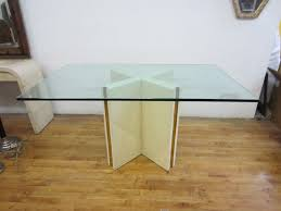 furniture rectangle dining table with x shape wooden base as well