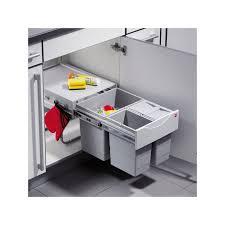poubelle de cuisine tri s駘ectif 3 bacs poubelle coulissante 3 bacs 35l gris